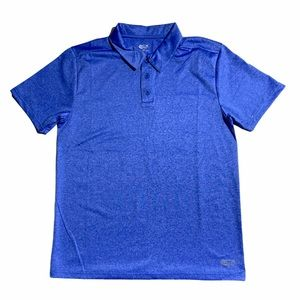 ACX Active Wear Workout T-Shirt Polo In Blue